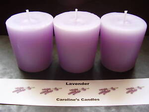 Set of 3 handmade scented votive candles 12 fragrances