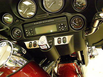 Fits Harley 96up Flht/tx Street Glide 06up Dash Trim Kit Ignition Cover Included
