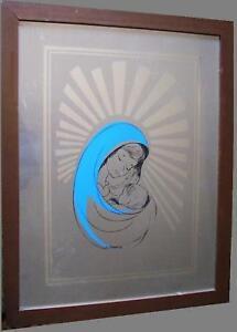 Serigrafia specchio madonna bambino capoletto a cesari ebay - Serigrafia su specchio ...