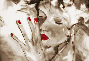 Large-Painting-Canvas-Art-Print-Sepia-Red-I-MissYou