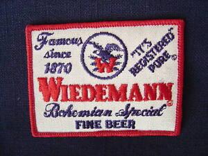 WIEDEMANN-BEER-SEW-ON-PATCH-NEWPORT-KY-ORIGINAL