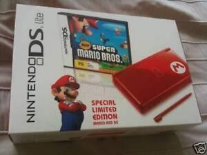 Mario-Red-Nintendo-DS-Lite-Bundle-Game-PAL-AUS-NEW