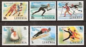 LIBERIA # 867-72 MNH WINTER OLYMPICS SPORTS 1980