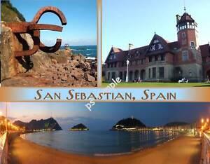 Spain san sebastian travel souvenir flexible fridge magnet - San sebastian tourist office ...