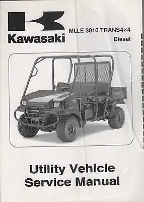 2008 Kawasaki Mule 3010 Atv Utility Vehicle Manual