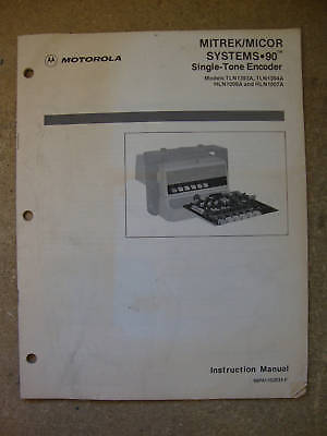 Motorola Mitrekmicor Systems 90 Tone Enc Manual  171