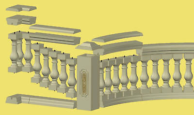 Concrete Baluster Railing 13 Piece Mold Set