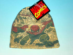 Spider-Man Marvel Comics All-Over Knit Beanie Cap HAT New With Tags