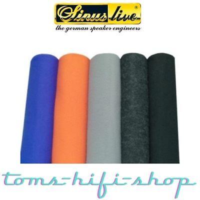SinusLive Bespannstoff schwarz Stoff Bezugsmaterial Akustikstoff Heckablage