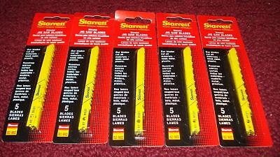 Five 5-packs Starrett Jigsaw Blades 6 Tpi (25 Blades) Bs21-5