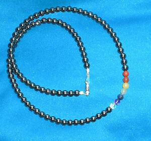7-Chakras-Necklace-4mm-Gemstones-round-hematite-beads-100-of-profits-donated