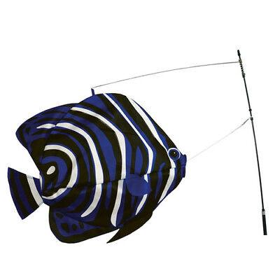 Korean Angelfish Swimming Bobber Windsock, Pole & Ground Mount..15.... Pr 26503