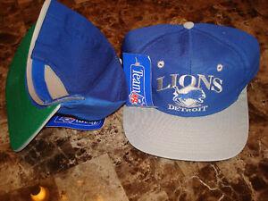 cd5afa2d DETROIT LIONS BARRY script splash 90'S HAT CAP VINTAGE SNAPBACK | eBay