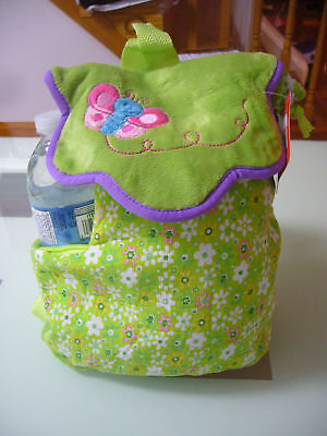 New Green Toddler Girl Backpack cute school bag flower