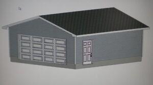 22 x 22 garage shop plans materials list blueprints for Garage apartment plans ebay