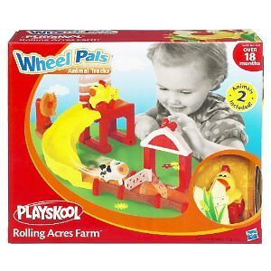 NEW-Playskool-Wheel-pals-Animal-Tracks-Rolling-Acres