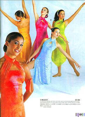 Foil Ankle Length Lyrical Dress 5 Colors Ch/adult Complete Leotard Under