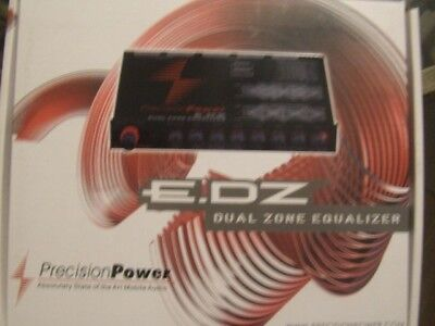 Precision Power Ppi E.dz Edz Dual Zone Audio Equalizer In Dash Eq