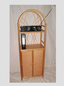 regal rattan ramin regal mit t ren neu farbe honig ebay. Black Bedroom Furniture Sets. Home Design Ideas