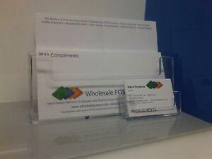 Plastics leaflet holder flyer and business card holder for Flyer and business card holder