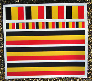 Road-Bike-Cycle-BELGIAN-FLAG-Frame-Decals-Stickers