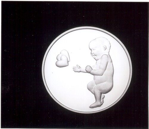 New .999 Fine Silver Baby Heart Charm Medallion Engrave