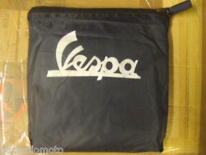 Vespa Scooter Cover Waterproof in Dark Blue In Pouch Tie Round