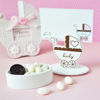 24 Baby Carriage Shower Favor Boxes Place Card Holders