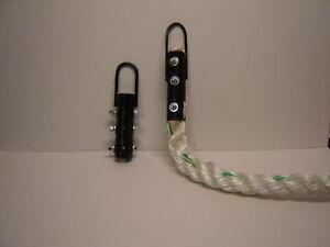 Cuerda de entrenamiento 1 1 2 X 15 polydacron Gimnasio Escalada con colgante de Hardware HD