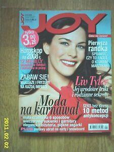 LIV TYLER on cover Joy 1/2008 Polish magazine - <span itemprop=availableAtOrFrom> Wałbrzych, Polska</span> - LIV TYLER on cover Joy 1/2008 Polish magazine -  Wałbrzych, Polska