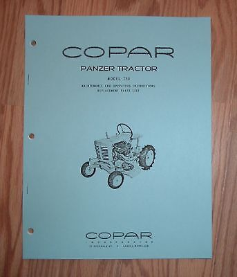 Copar Panzer Model T50 Tractor Owners / Parts Manual