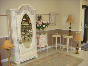Beautiful broken china mosaic french girls bedroom set ebay - Beautiful girls bedroom furniture ...