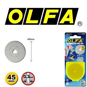 OLFA-45mm-Rotary-Cutter-Spare-Blade-RB45-1-Free-Post