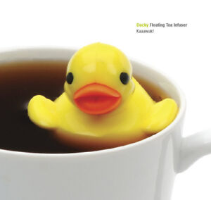 Darling-RSVP-Just-Ducky-Floating-Loose-Tea-Infuser-Duck-w-Drip-Cup-BPA-Free-NEW
