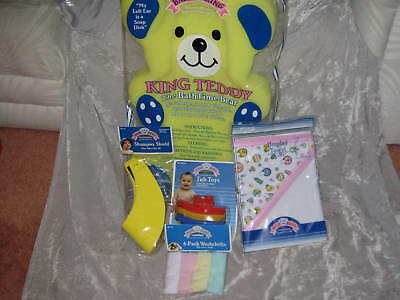 Baby Bath Bear Shampoo Shield Wash Cloths Towel Tub Toy