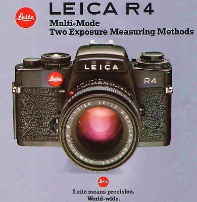 Инструкции и руководства 1984 LEICA R4