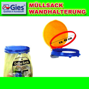 gies gelber sack wandhalterung m llsackst nder sackhalter stabile wandmontage ebay. Black Bedroom Furniture Sets. Home Design Ideas