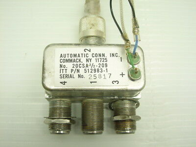 Automatic Connection Coax Divider Splitter 512983-1