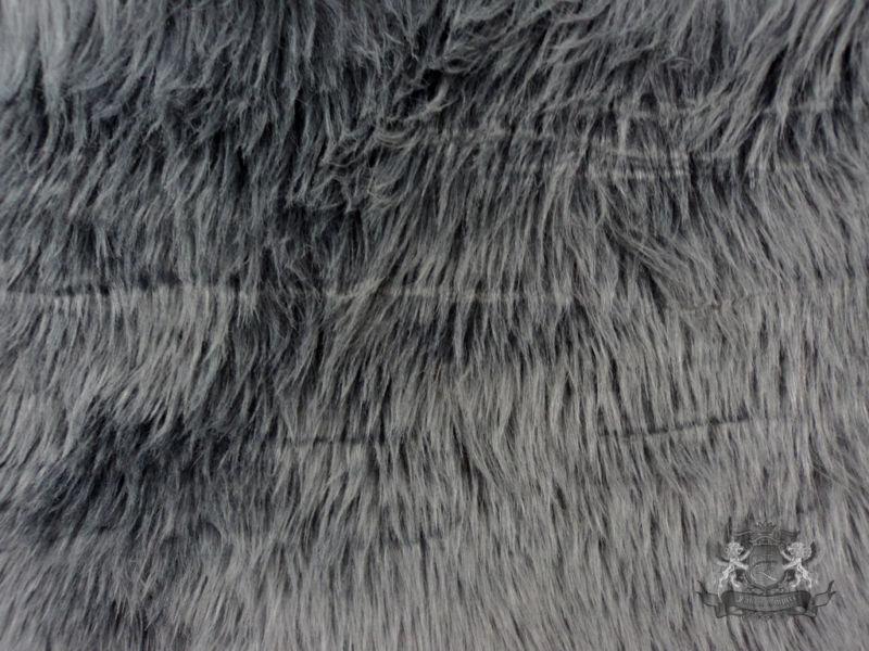 Faux Fur Shaggy Gray Long Pile Hair Fabric By The Yard Ebay