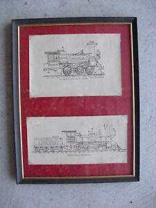 Framed-Early-1900s-Photographs-of-Train-Locomotives-6