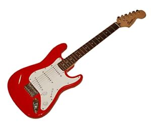squier by fender mini stratocaster torino red strat electric guitar with gig bag ebay. Black Bedroom Furniture Sets. Home Design Ideas