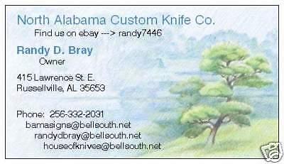 North Alabama Custom Knife