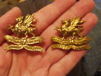 COPY&GENUINE BRASS 11th LONSDALE BORDER REGT CAP BADGES