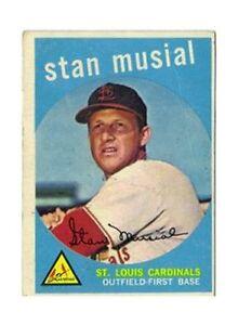 1959 Topps Stan Musial St Louis Cardinals 150 Baseball Card