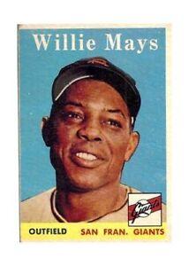 1958 Topps Willie Mays San Francisco Giants 5 Baseball Card