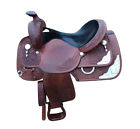 "Circle Y Western Pleasure Equitation Show Brown 16"" Western Equestrian Saddle"
