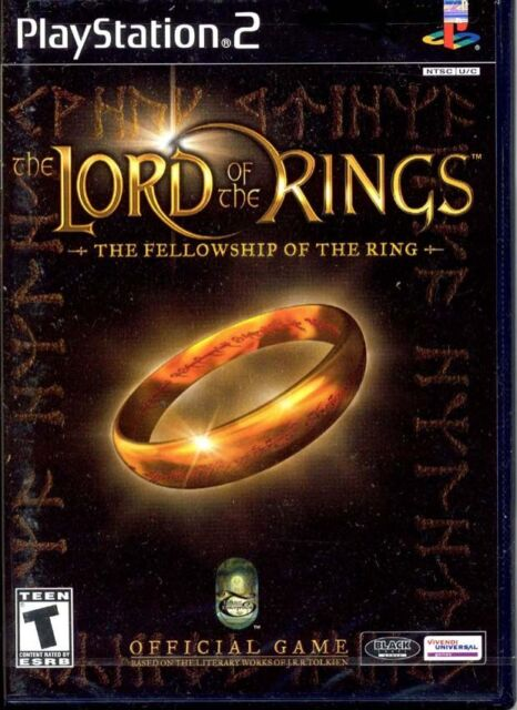 The Lord of the Rings The Fellowship of the Ring PS2 - DISC ONLY