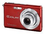 Casio EXILIM ZOOM EX-Z70 7.2 MP Digital Camera - Red