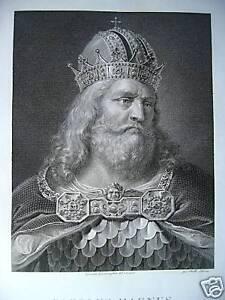 Carlo-Magno-Carolus-Magnus-incisione-originale-1820