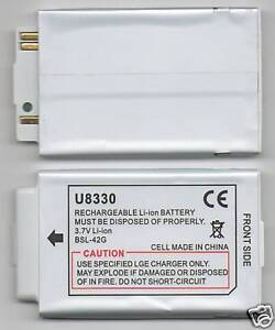 NEW BATTERY FOR LG U8330 U8110 U8130 U8150 U8120 U8130